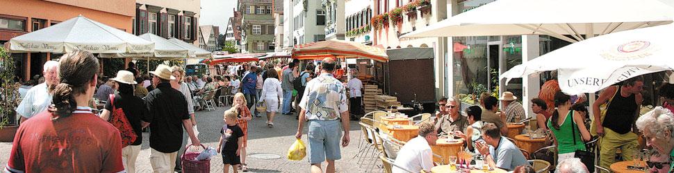 Blick von Bader Richtung Marktplatz