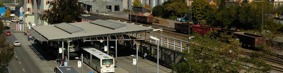ZOB und Bahnanlagen