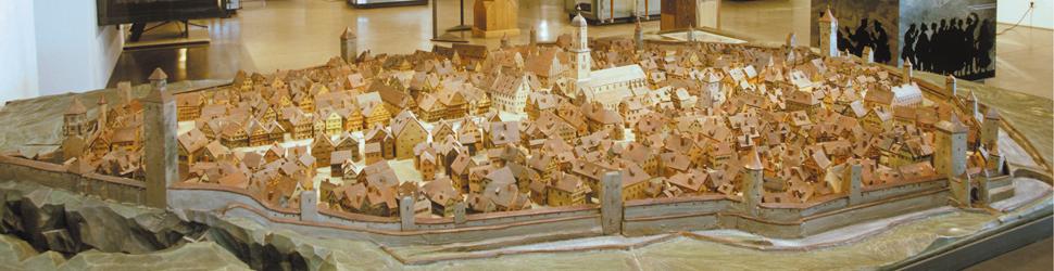 Stadtmodell im Museum