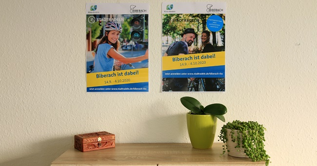 »Stadtradeln« in Biberach- Plakate zum Download